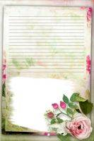 Portfolio and Frame in vintage style (for girl)
