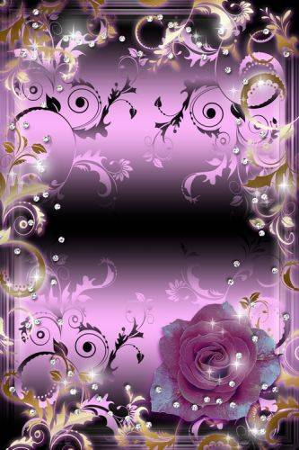 Woman's Frame - Glamour Rose in Light of Brilliants