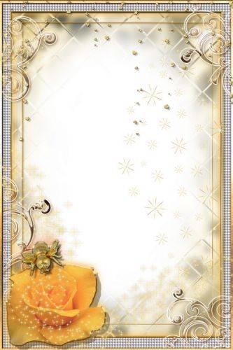 Glamour Frame - Rose and Golden Bug