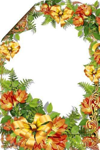 Set of flower framework for the photo - Inspiration