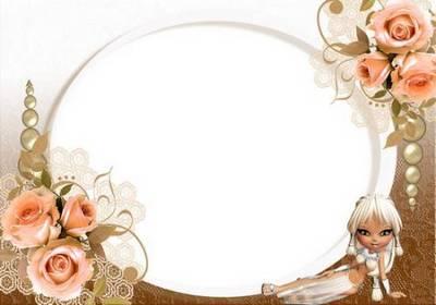 Set of frameworks (flower) «the Tea rose»