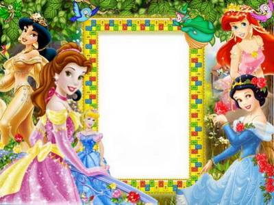 Collection of children's frames in PSD
