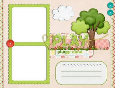 Collection of children's frames for photos - Playground