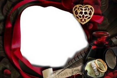 Collection romantic frame in the Gothic style - Forever love