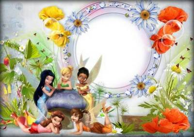 Set photo frames PNG for children's photos with fairy tale characters -  7 PNG Frames