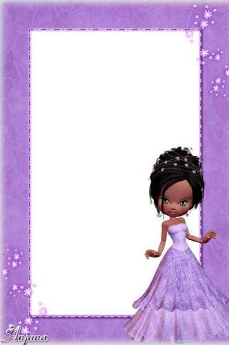 A set of frames for children - Purple