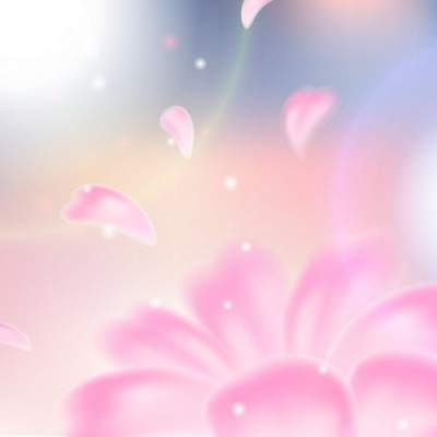 2 Multilayer PSD backgrounds - flying in the wind flower petals