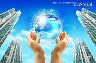 The world of digital technology (multi-layer PSD)