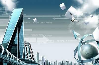 Internet - the city (multilayer PSD)