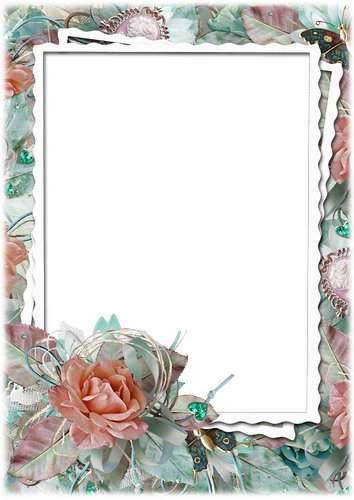 Set of floral photo frames - Divine fragrance