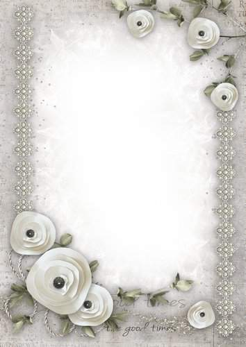 Set of vintage png frames with bright flowers - The charm