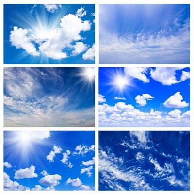 The sky and the sun in the clouds - HQ backgrounds
