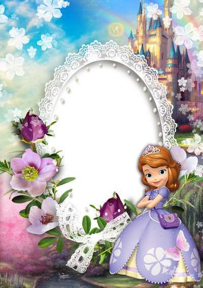 Children Photoshop Frame Png Psd Template Princesses Sofia