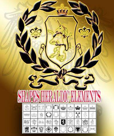 Heraldic Photoshop Shapes (CSH.)