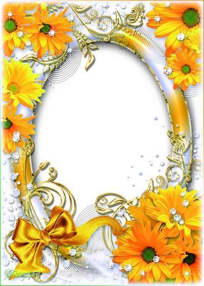 Flower frame for photo - Today in the home summer weather