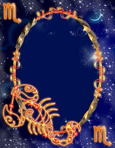 Frame for photoshop - Zodiac signs. Scorpius