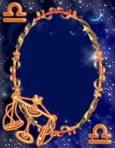 Frame for photoshop - Zodiac signs. Scales
