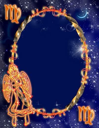 Frame for photoshop - Zodiac signs. Virgo