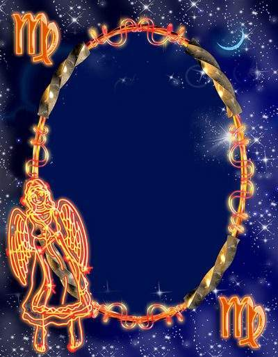 Frame for photoshop - Zodiac signs. Virgo