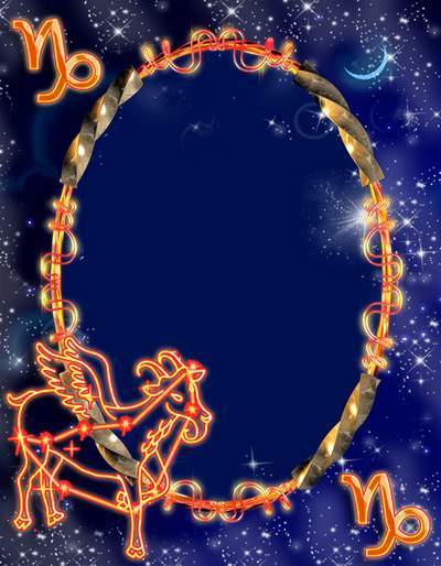 Frame for photoshop - Zodiac signs. Goat