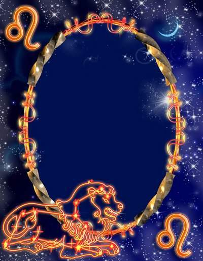 Frame for photoshop - Zodiac signs. Lion