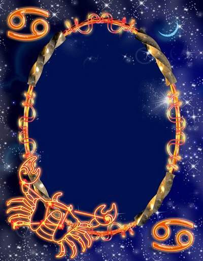 Frame for photoshop - Zodiac signs. Сancer