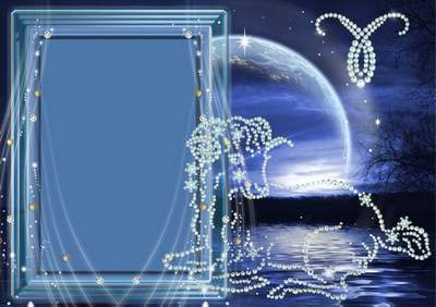 Frame for photoshop - Crystal zodiac signs. The Aries