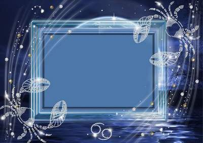 Frame for photoshop - Crystal zodiac signs. A cancer
