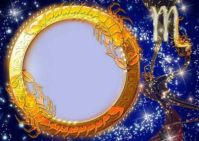 Frame for photoshop - Charming zodiac signs. Virgo