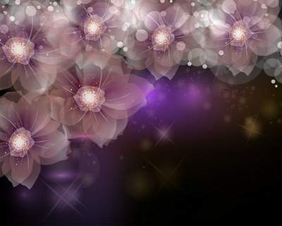 Shining flowers - Multi-layer PSD source for Adobe Photoshop