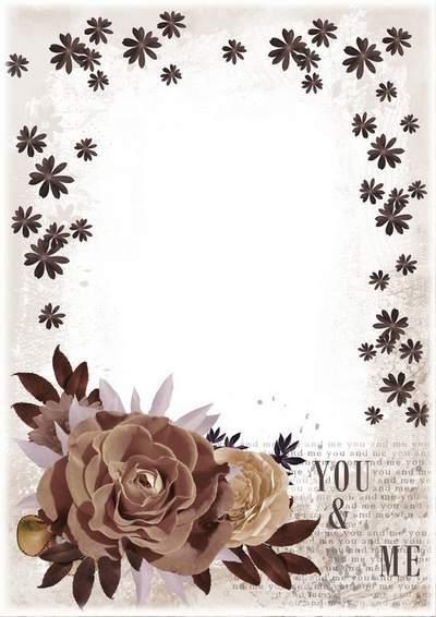 Romantic photo frame - Chocolate mood
