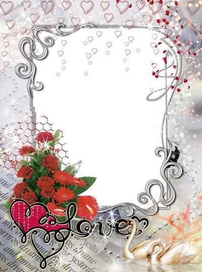 Romantic photo frame - My dream, i love you. Transparent PNG Frame ...