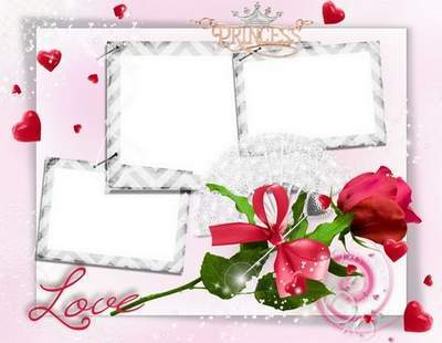 Romantic frame - Mysterious rose