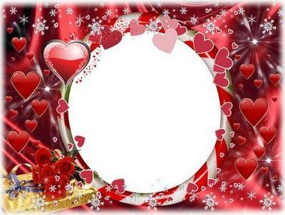 Festive romantic frame - We are happy together