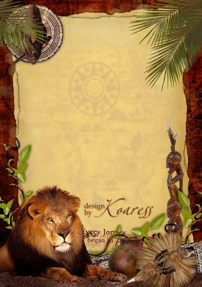 Romantic frame for Photoshop - The hot heart of Africa