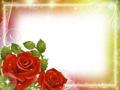 Romantic frame for Photoshop - Morning Rose