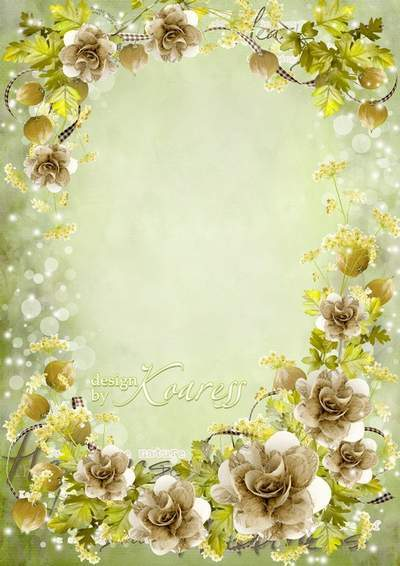 Romantic photo frame - A modest beauty of summer forest