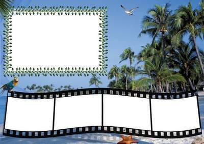 Frame for collective photo - Leave for the sea to relax with your family