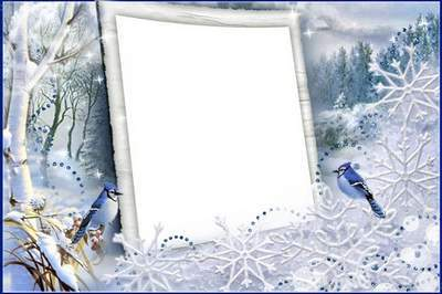 Frame for photoshop - Snow lace