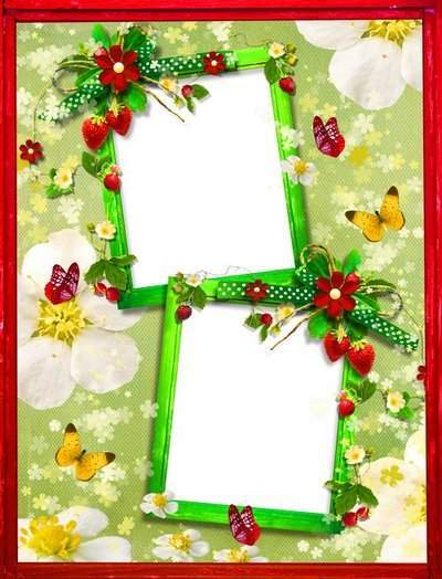 Frame for two photos - Fragrant strawberry