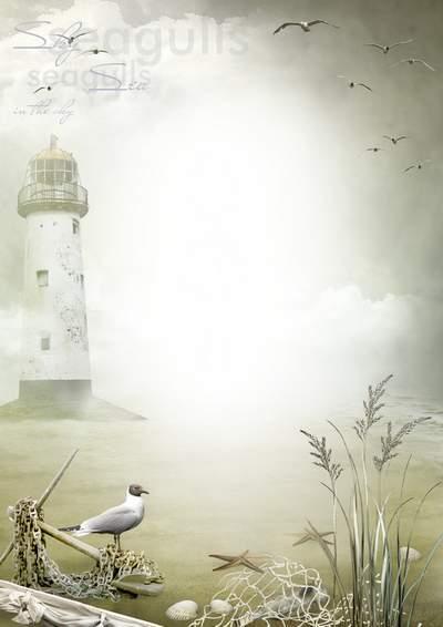 Frame for romantic photos - Deserted sea shore
