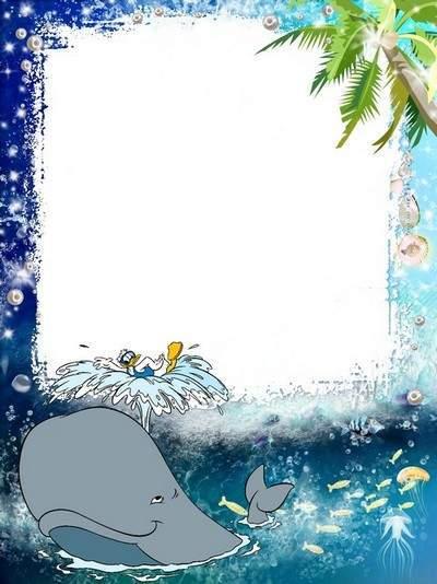 Baby sea frame - Merry sperm whale