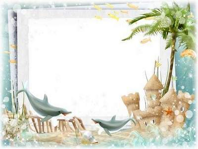 Summer photo framework - Sunny seaside