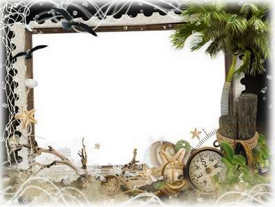 Summer frame for Photoshop- Romantic evening on the beach
