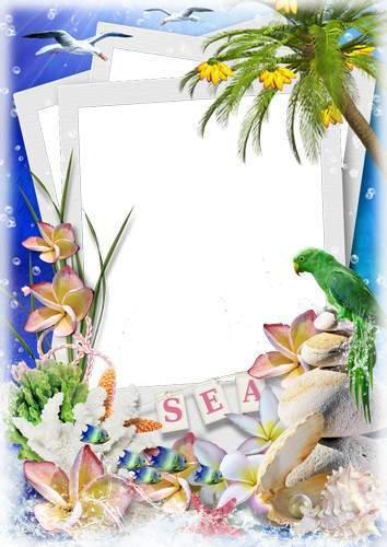 Summer photo frames - Unforgettable vacation