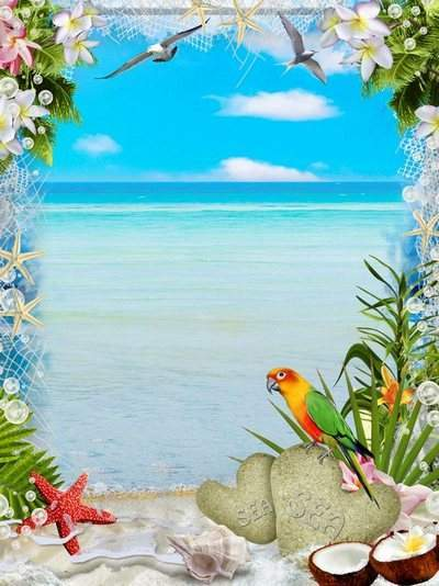 Offshore photo frame - a haven for relaxation