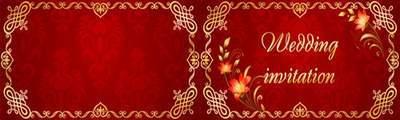 Wedding invitation 3 PSD files. Text can be edited. English, Russian, Ukrainian languages