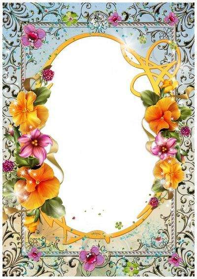 Flower Photo Frame PSD Template - my Favorite flowers