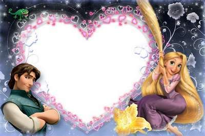 Romantic Love Frame with Rapunzel — You've Become my Dream