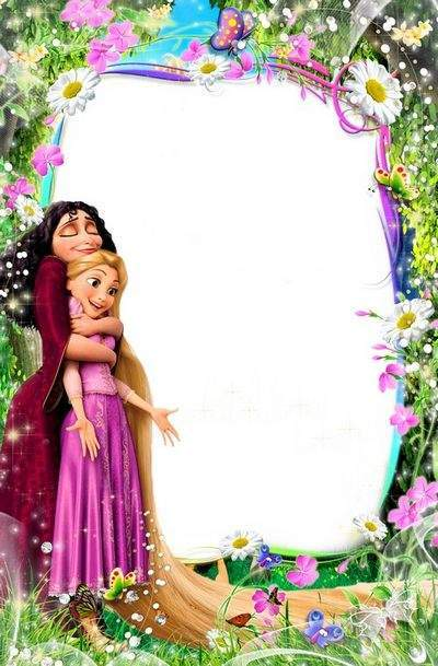 Bright Children frame for photo with the heroes of m / f  Rapunzel 5
